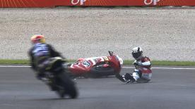 Valencia 2013 - Moto2 - FP3 - Action - Steven Odendaal - crash