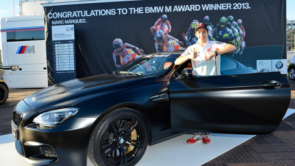 Marc Marquez, BMW M Award Winner, best qualifier MotoGP 2013