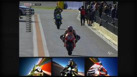 Title chaser Marc Marquez registered a superb new pole record of 1'30.237 in the final stages of Q2 at Valencia, putting himself ahead of Jorge Lorenzo and Dani Pedrosa on the grid for Sunday's title deciding race.