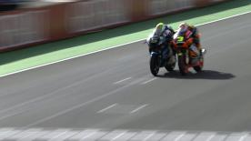 Valencia 2013 - Moto2 - RACE - Action - Johann Zarco and Simone Corsi - Finish