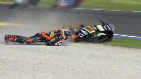 Valencia 2013 - Moto3 - RACE - Action - Niklas Ajo - Crash