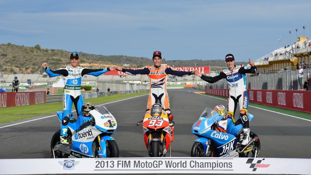 2013 World Champions Espargaró, Marquez, Viñales