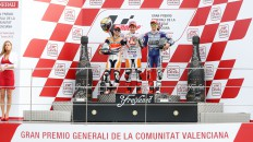 Pedrosa, Marquez, Lorenzo, Repsol Honda Team, Yamaha Factory Racing, Valencia RAC