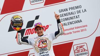 2013 MotoGP World Chamion Marc Marquez, Valencia RAC