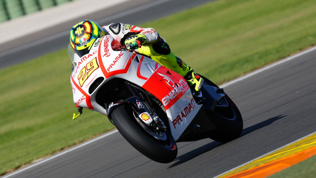 Andrea Iannone, Pramac Racing Team, MotoGP Valencia Test Day 1