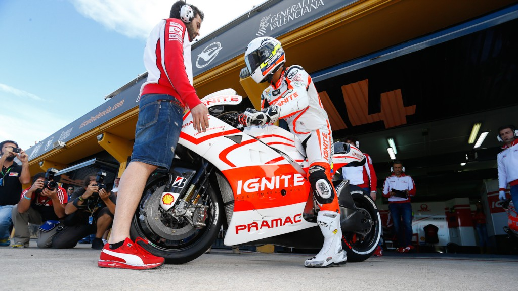 Yonny Hernandez, Pramac Racing Team, Valencia Test Day 1