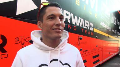 Espargaro happy with 17 lap Yamaha FTR debut