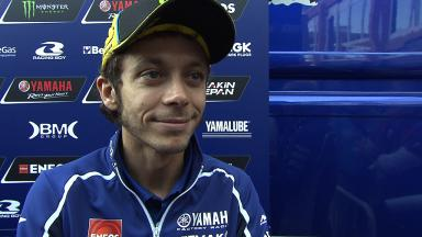 Rossi concentrated on new bike on Tuesday