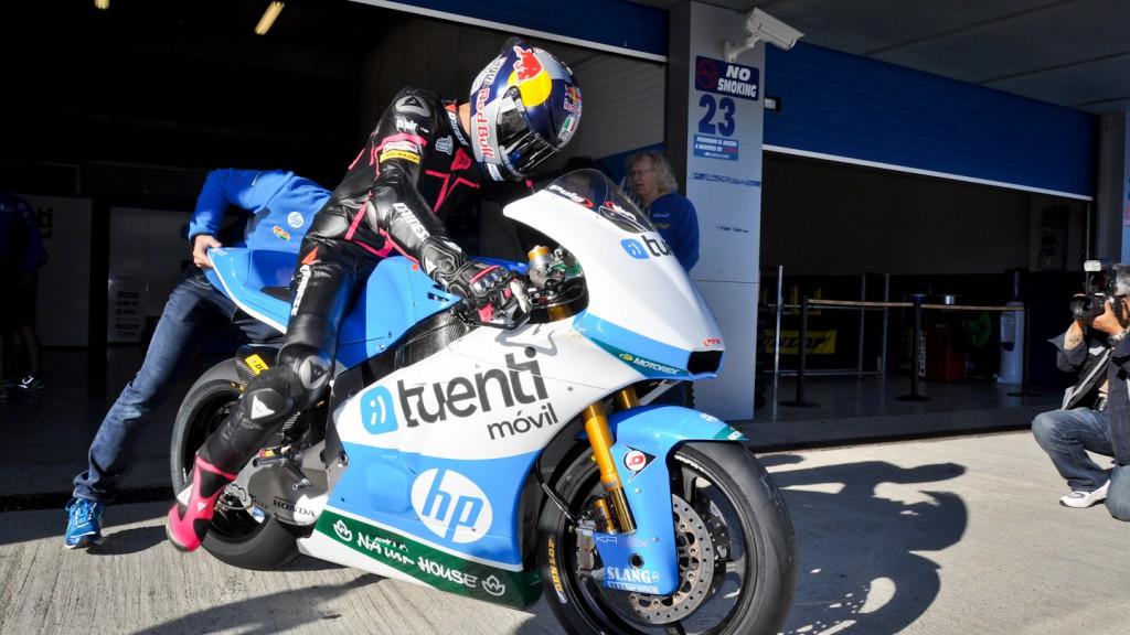 Luis Salom, Tuenti HP 40, Jerez Test
