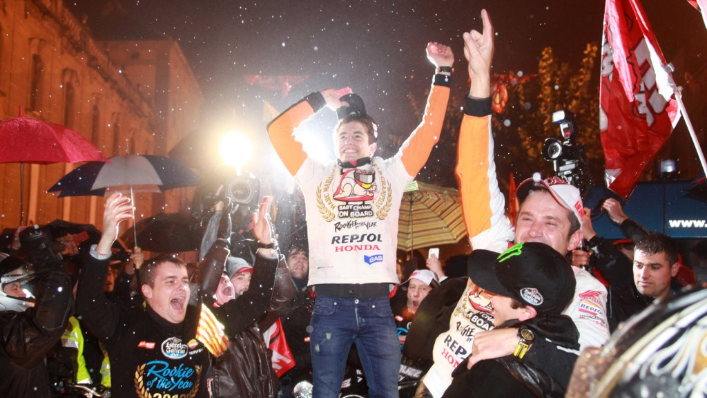 Marquez celebrates World Title in hometown Cervera