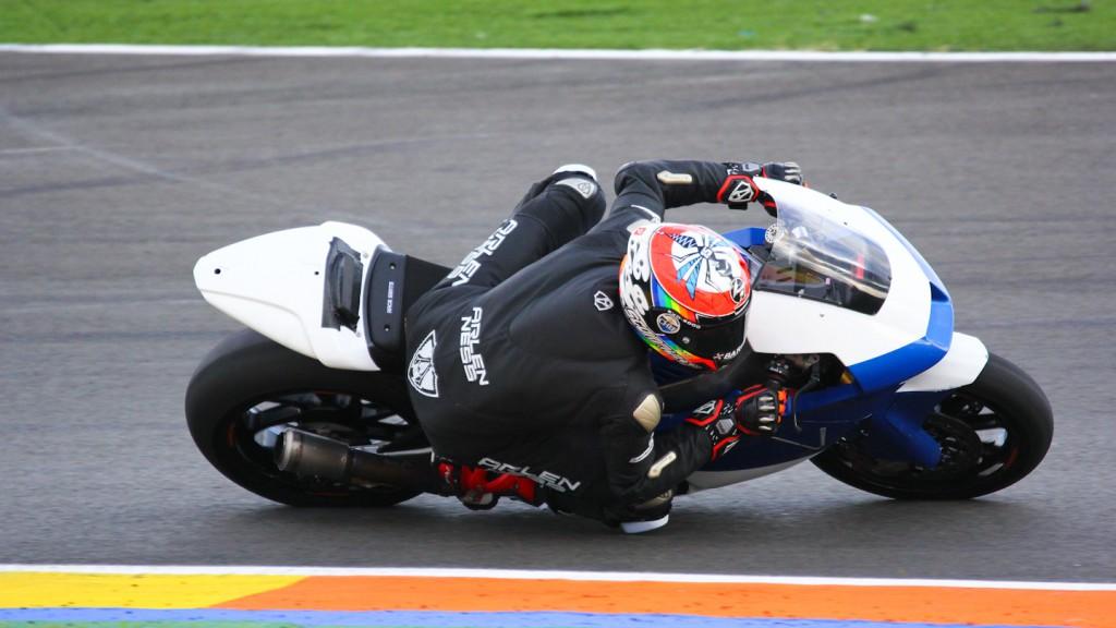 Alex de Angelis, Team Tasca, Test Valencia Moto2