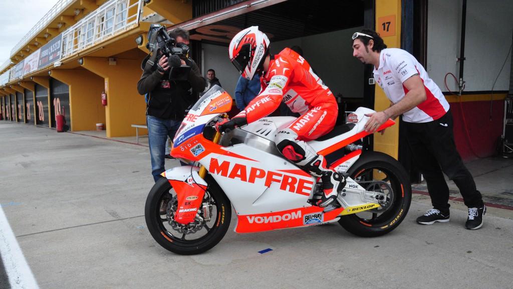 Nico Terol, Aspar Team Moto2, Test Valencia Moto2
