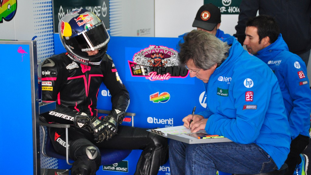 Luis Salom, Tuenti HP 40, Test Valencia Moto2