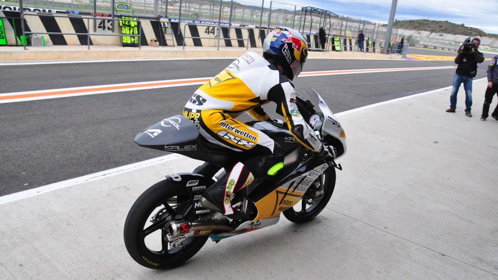 Phillip Oettl, Interwetten Paddock Moto3, Test Valencia Moto3