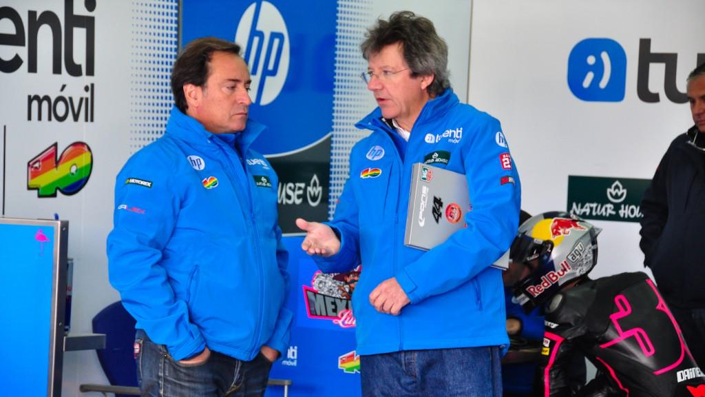Sito Pons, Santi Mulero, Tuenti HP 40, Test Valencia Moto2