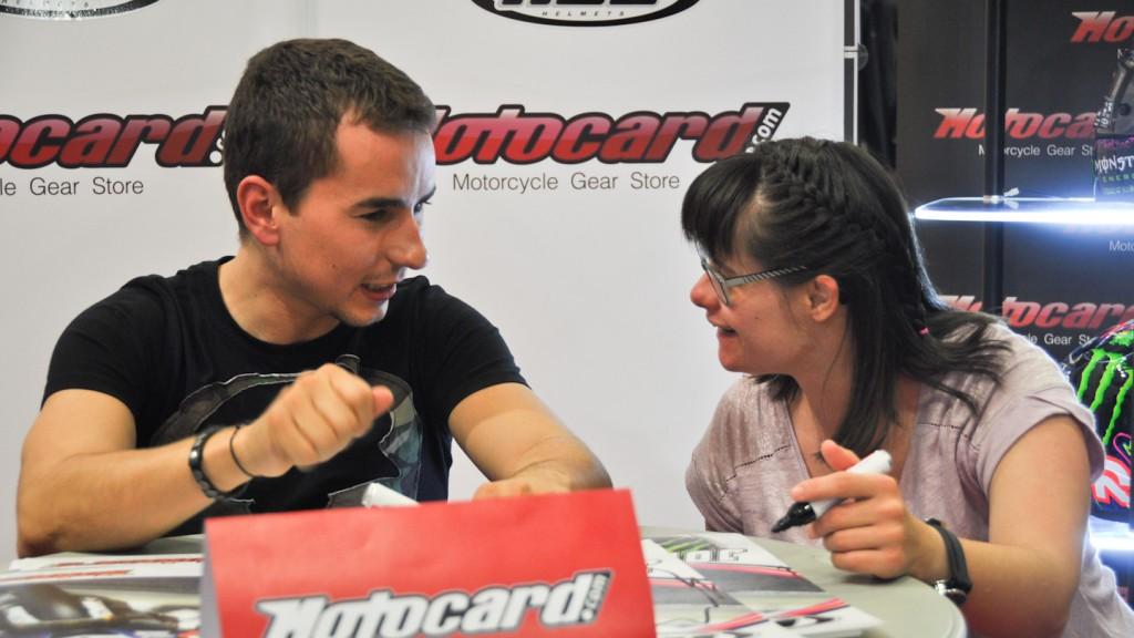 Jorge Lorenzo, Anna Vives, Motocard Barcelona 2