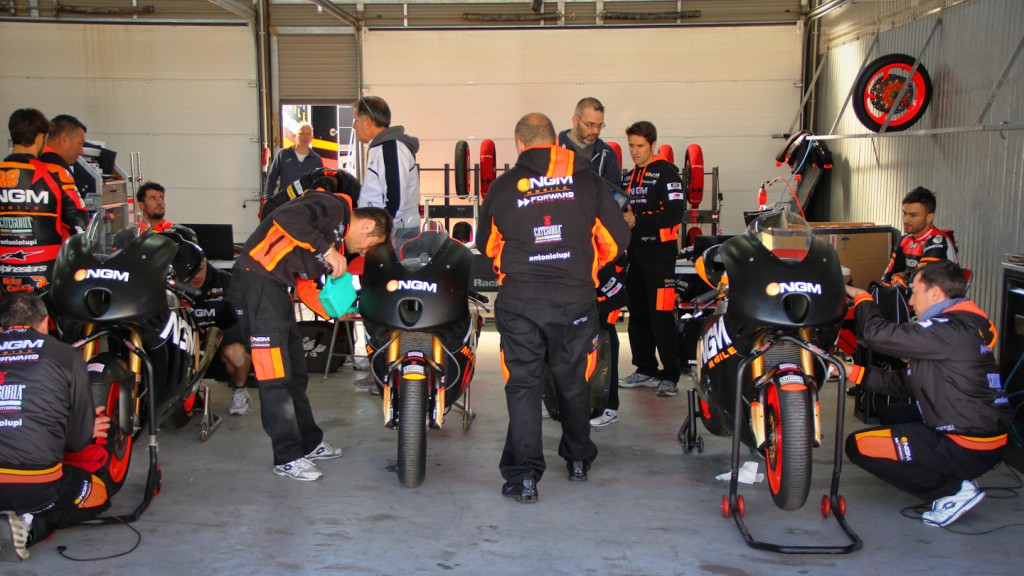 NGM Mobile Forward Racing garage, Almería Test