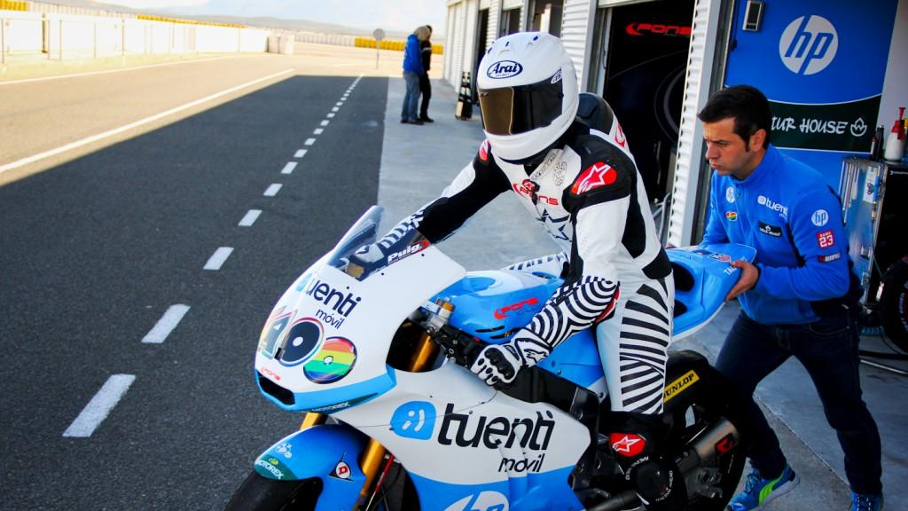 Maverick Viñales, Tuenti HP 40, Almería Test