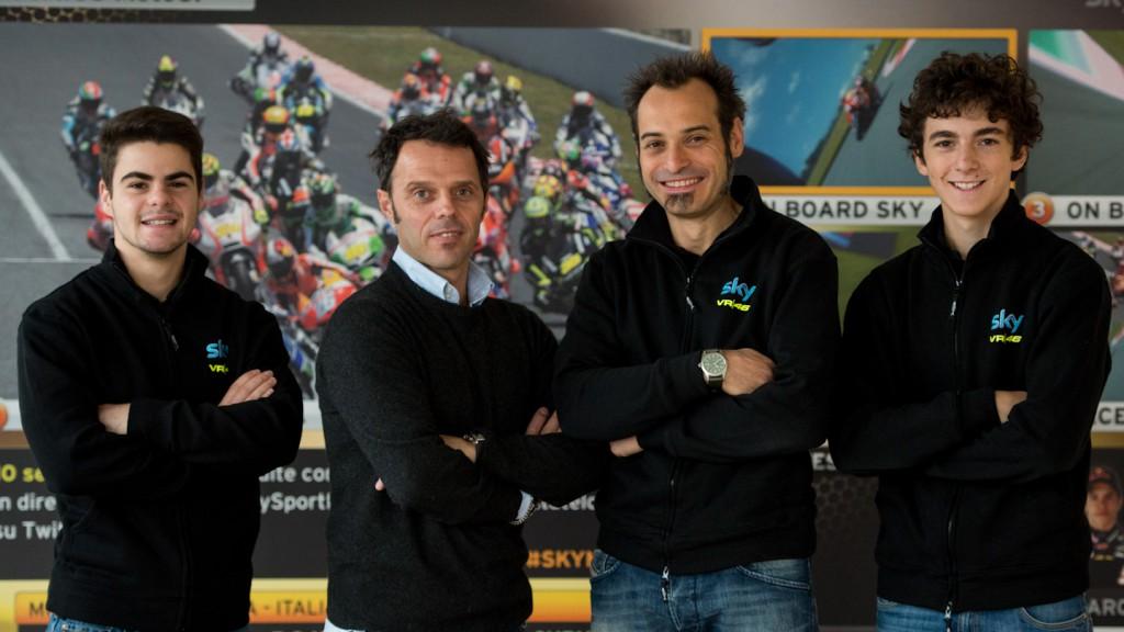 Team SKY-VR46: Fenati, Capirossi, Guareschi, Bagnaia