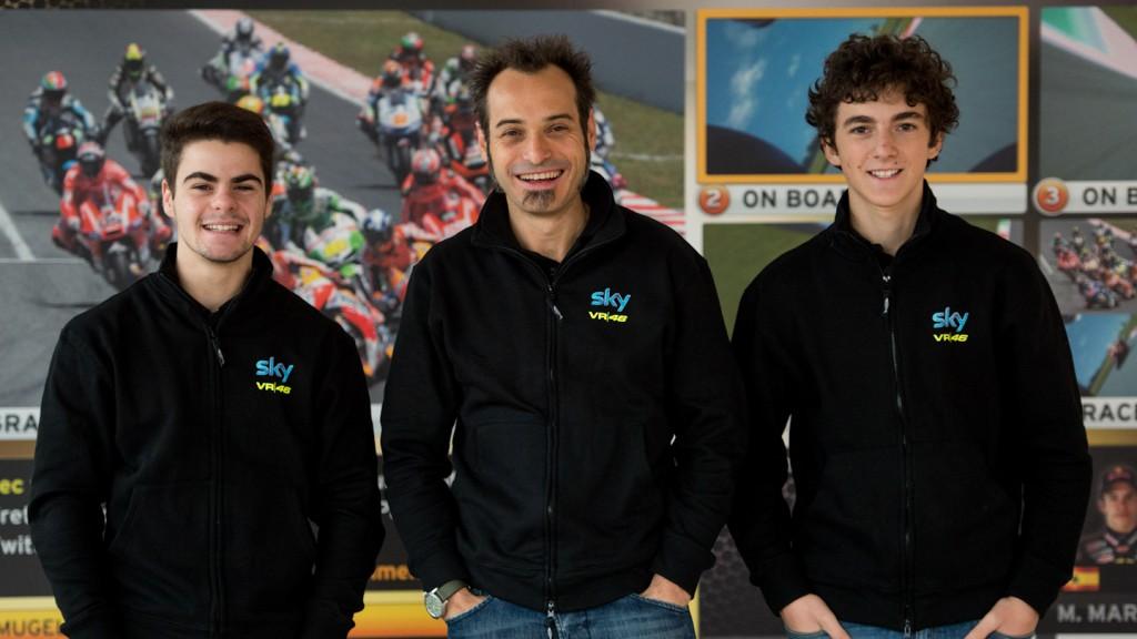 Team SKY-VR46: Fenati, Guareschi, Bagnaia