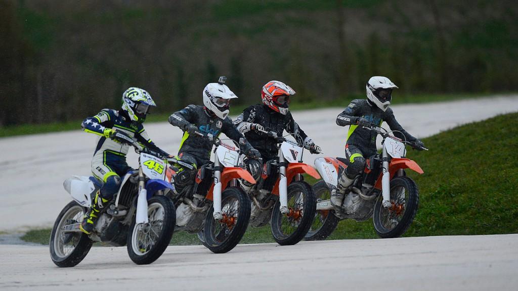 Team SKY-VR46: Rossi, Bagnaia, Guareschi, Fenati