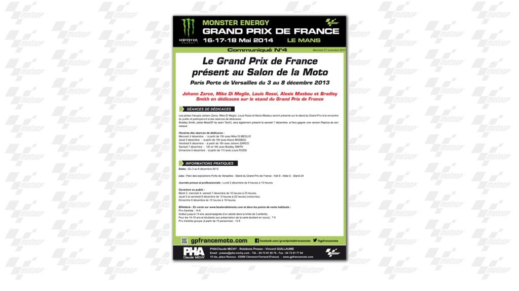 Le Grand Prix de France Présent au Salon de la Moto