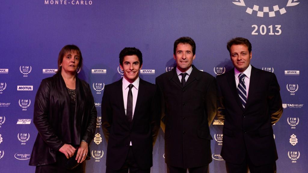 Roser Alenta, 2013 MotoGP World Champion Marc Marquez, Julia Marquez, Emilio Alzamora