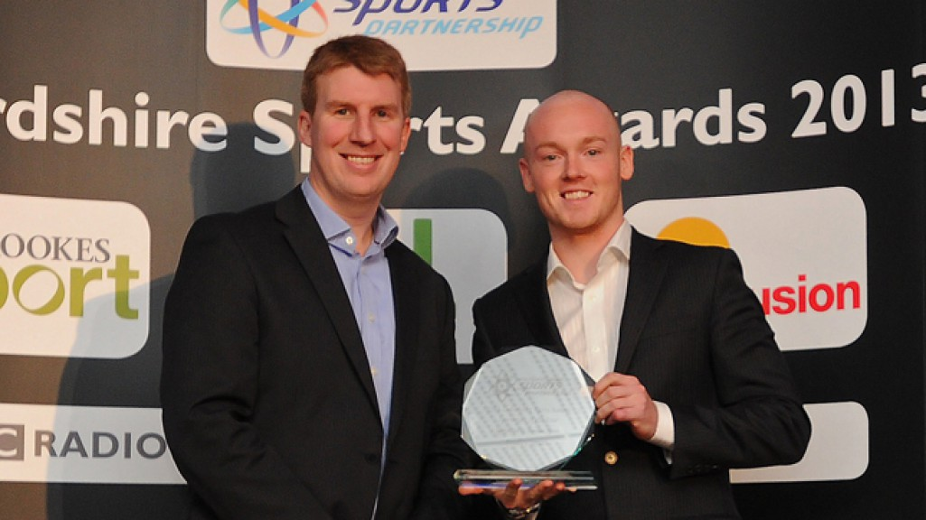Bradley Smith receives the Oxfordshire Sportsman of the Year award