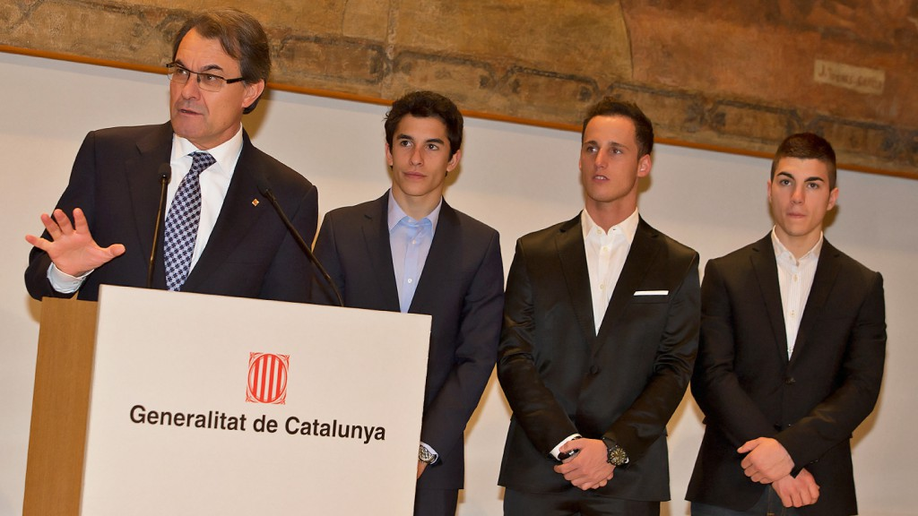 Artur Mas, Marquez, Espargaro, Viñales - Palau de la Generalitat