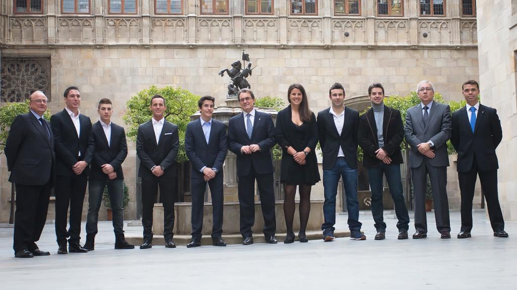 Artur Mas & 2013 World Champions - Palau de la Generalitat