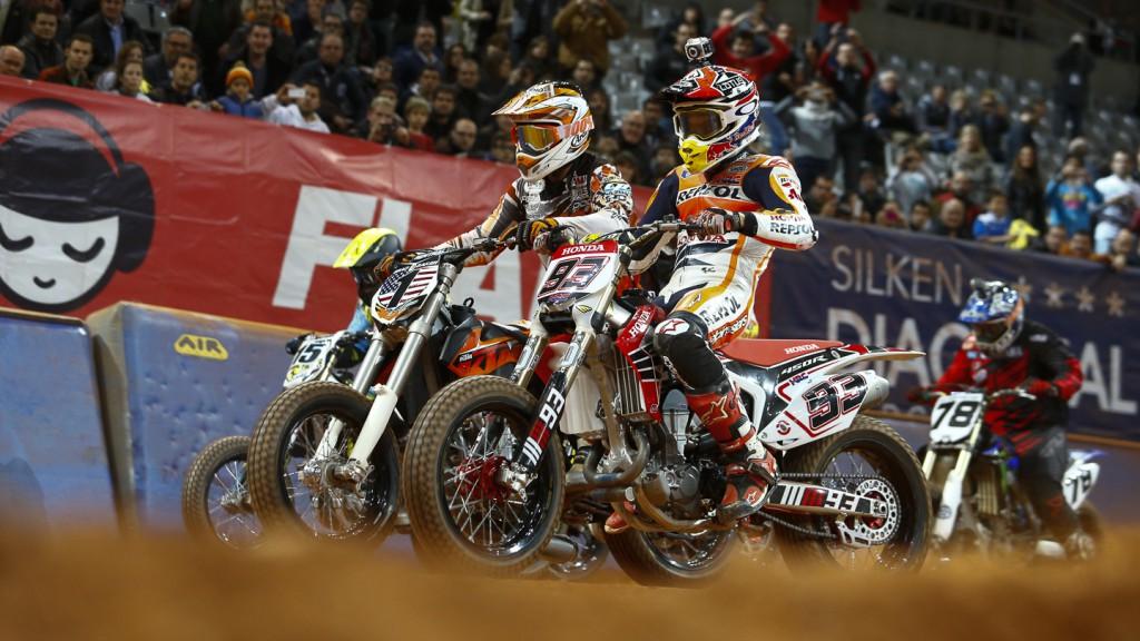 Marc Marquez, Brad Baker, 2014 Superprestigio Dirt Track