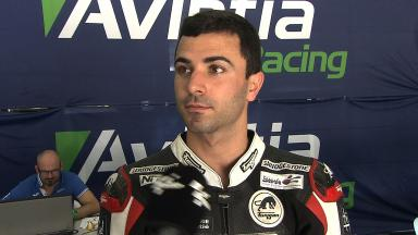 Di Meglio explains strong points of Avintia bike