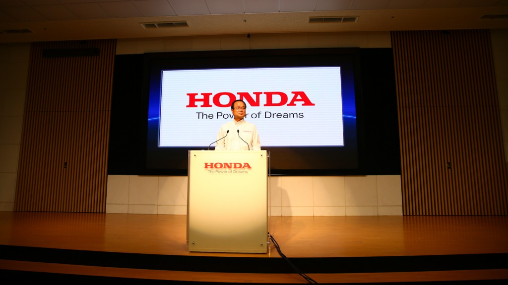 Honda Motor CEO Takanobu Ito, Honda 2014 Motorsports Press Conference