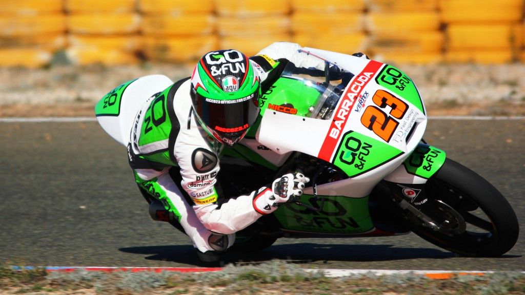 Niccolò Antonelli, Junior Team GO&FUN Moto3, Almería Test  © Max Kroiss