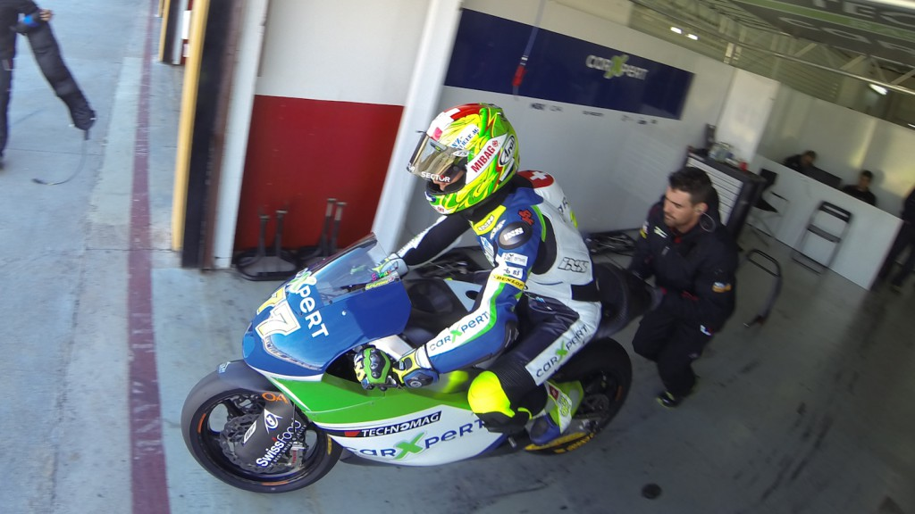 Dominique Aegerter, Technomag carXpert, Valencia Test