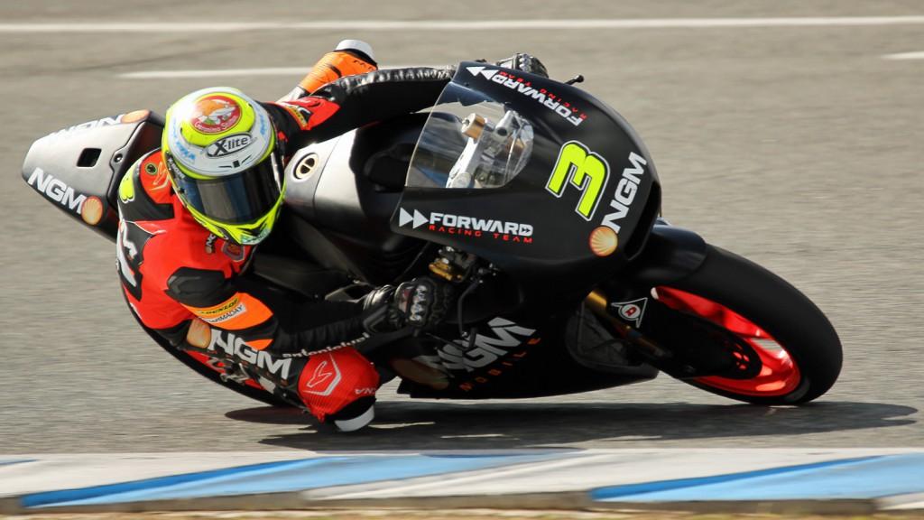 Simone Corsi, NGM Mobile Forward Racing, Jerez Test © Max Kroiss