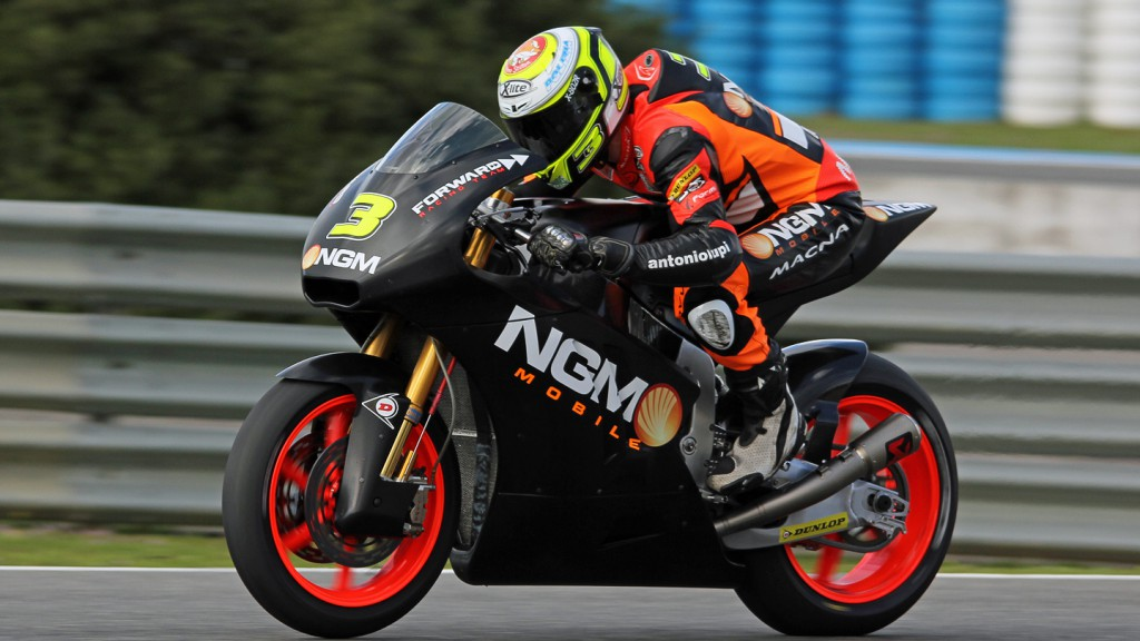 Simone Corsi, NGM Forward Racing, Jerez Test © Max Kroiss