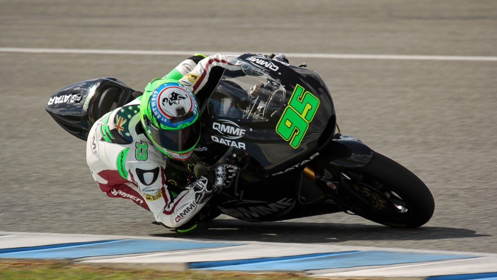 Anthony West, QMMF Racing Team, Jerez Test © Max Kroiss