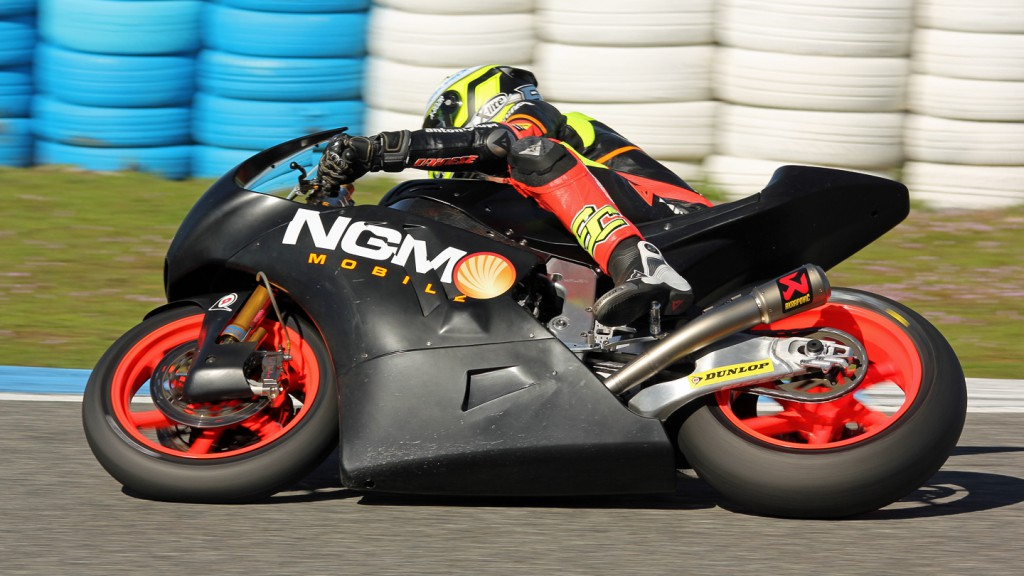 Simone Corsi, NGM Mobile Forward Racing, Jerez Test © Max Kroiss