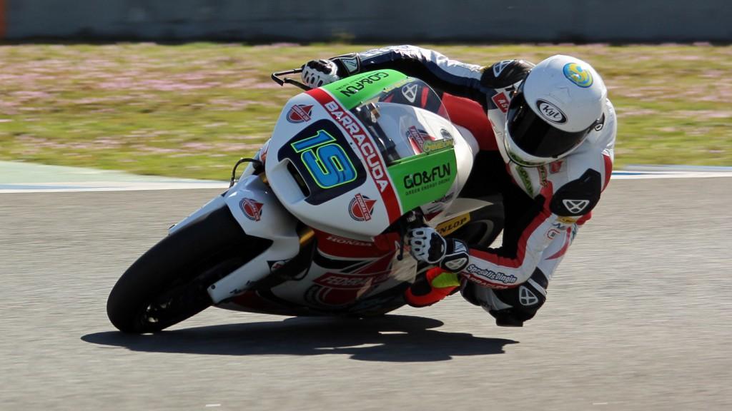 Xavier Simeon, Federal Oil Gresini Moto2, Jerez Test © Max Kroiss
