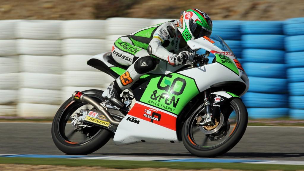 Niccolò Antonelli, Junior Team GO&FUN Moto3, Jerez Test © Max Kroiss