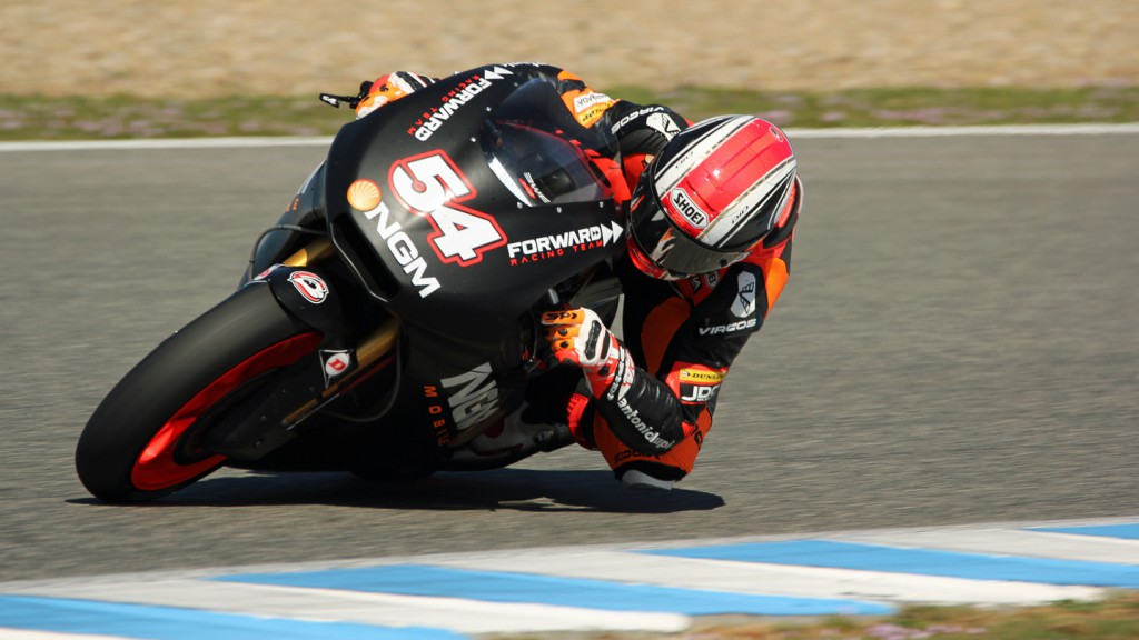 Mattia Pasini, NGM Mobile Forward Racing, Jerez Test © Max Kroiss