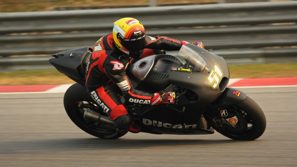 Michele Pirro, Ducati Test Team, Sepang Test © Max Kroiss