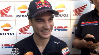 Front focus for Pedrosa as he matches Rossi