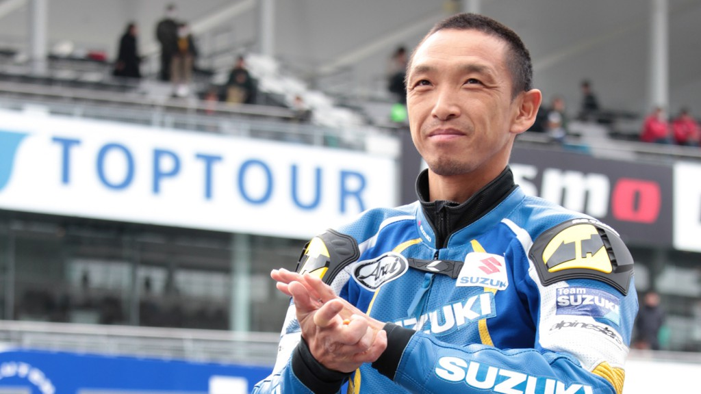 Nobuatsu Aoki, Suzuka Thanks Day for Motosports fans