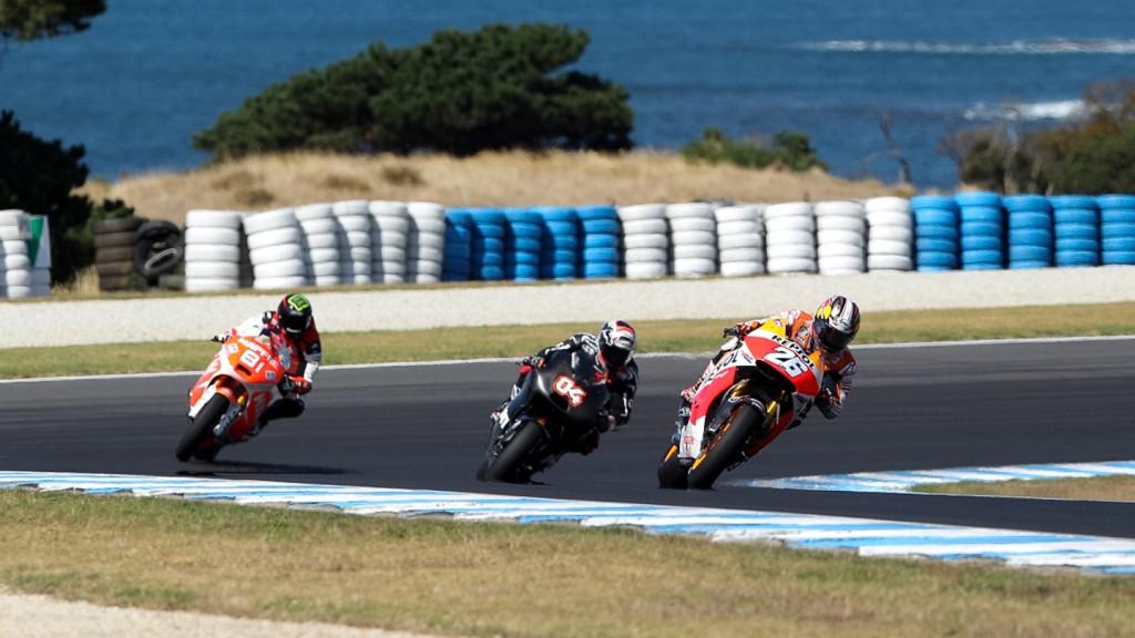 Jordi Torres, Andrea Dovizioso, Dani Pedrosa - Phillip Island Test © Copyright Bruno Silverii