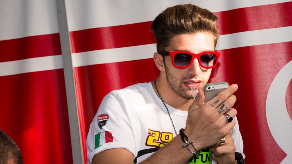 Andrea Iannone, Pramac Racing, Qatar Test