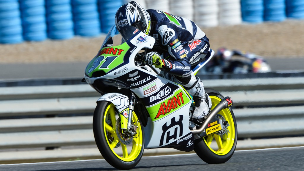 Niklas Ajo, Avant Tecno Husqvarna Ajo, Test Jerez