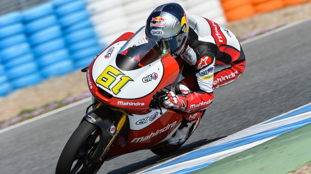 Arthur Sissis, Mahindra Racing, Test Jerez