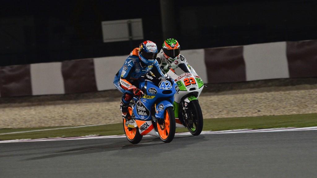 Alex Rins, Niccolò Antonelli, Estrella Galicia 0,0, Junior Team GO&FUN Moto3, QAT FP1